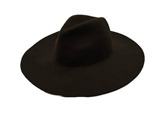 ウールつば広HAT